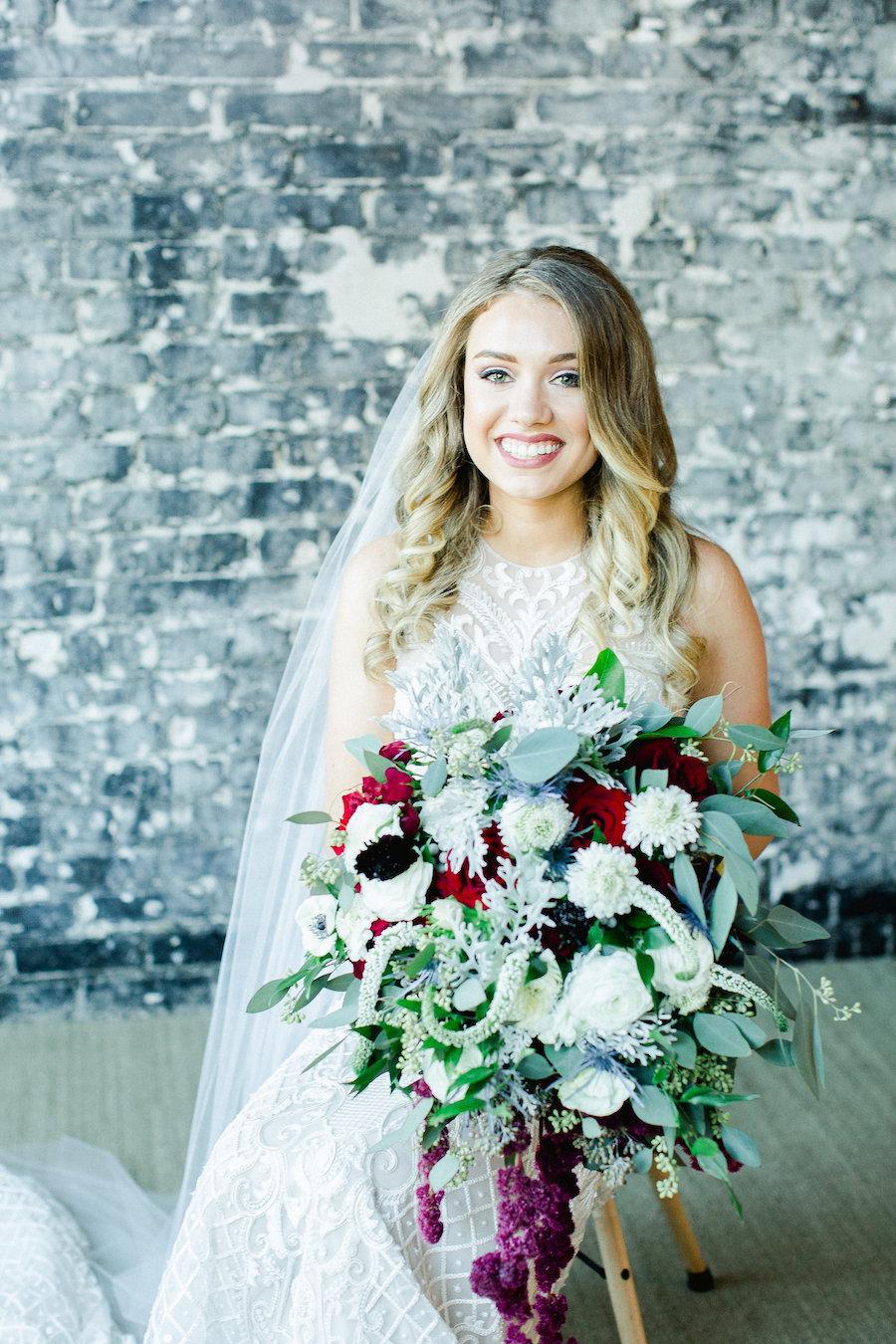 Oversized fall wedding bouquet