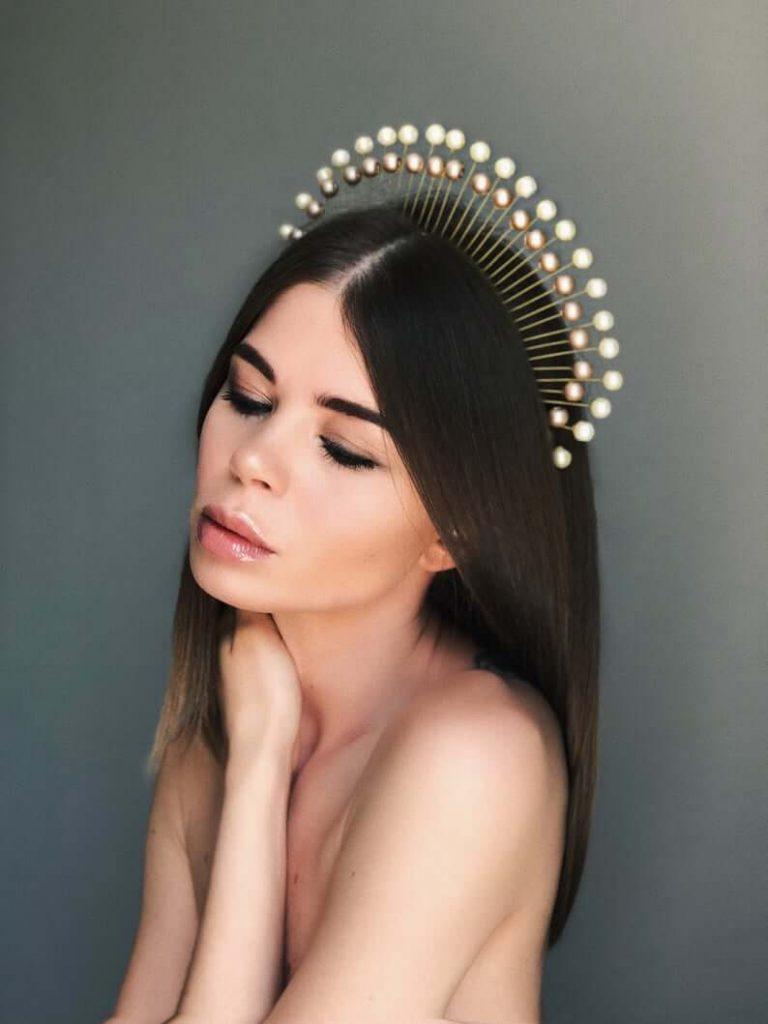pearl bridal tiara