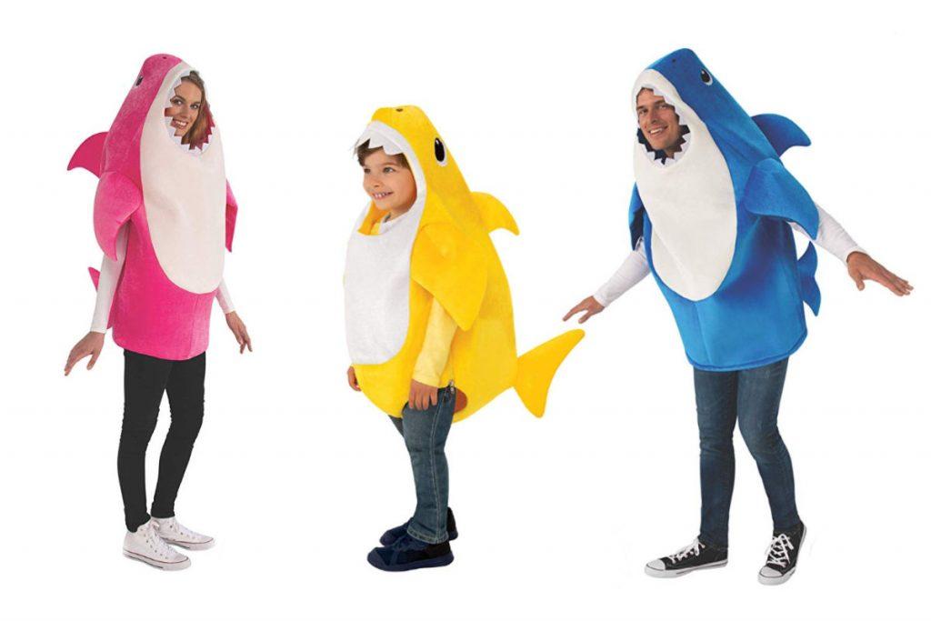 baby shark family costume