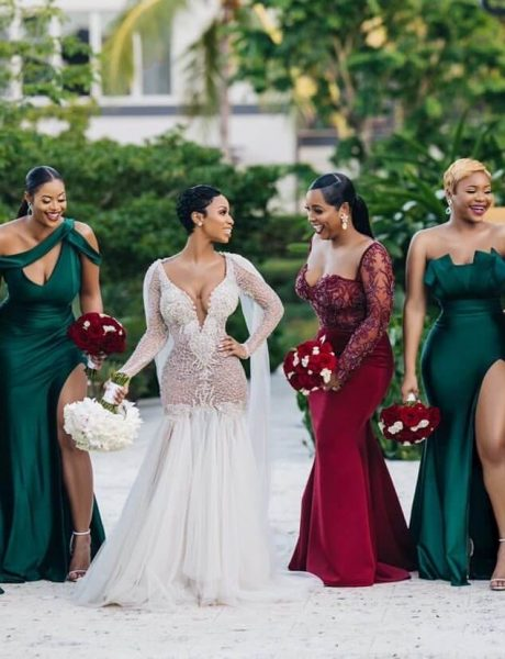 Emerald sexy bridesmaids dresses- stanlo photography