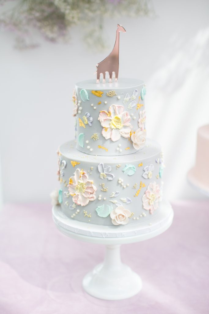 powder blue cake