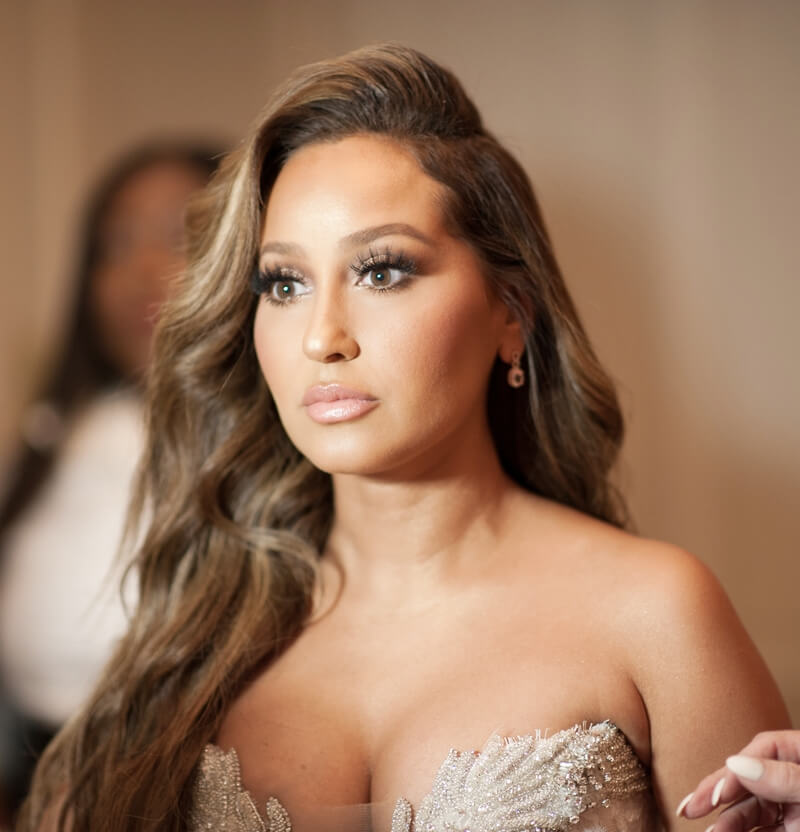 Adrienne Bailon Houghton Wedding Hair