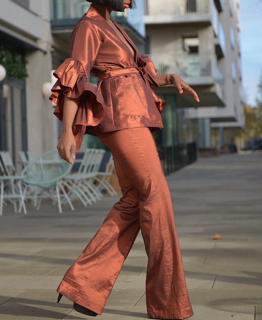 Bronze Pantsuit Set