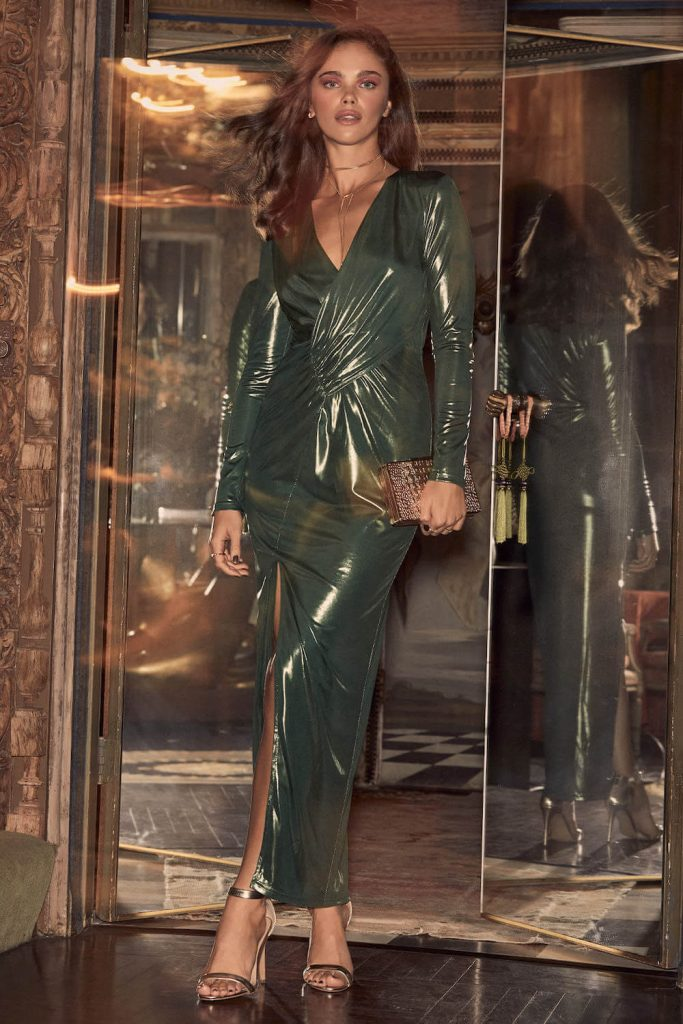 Shimmery Green Dress by Lulus