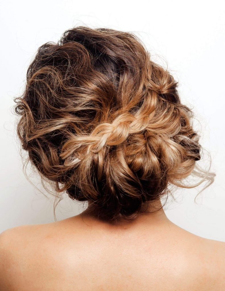 messy romantic bridal hairstyle
