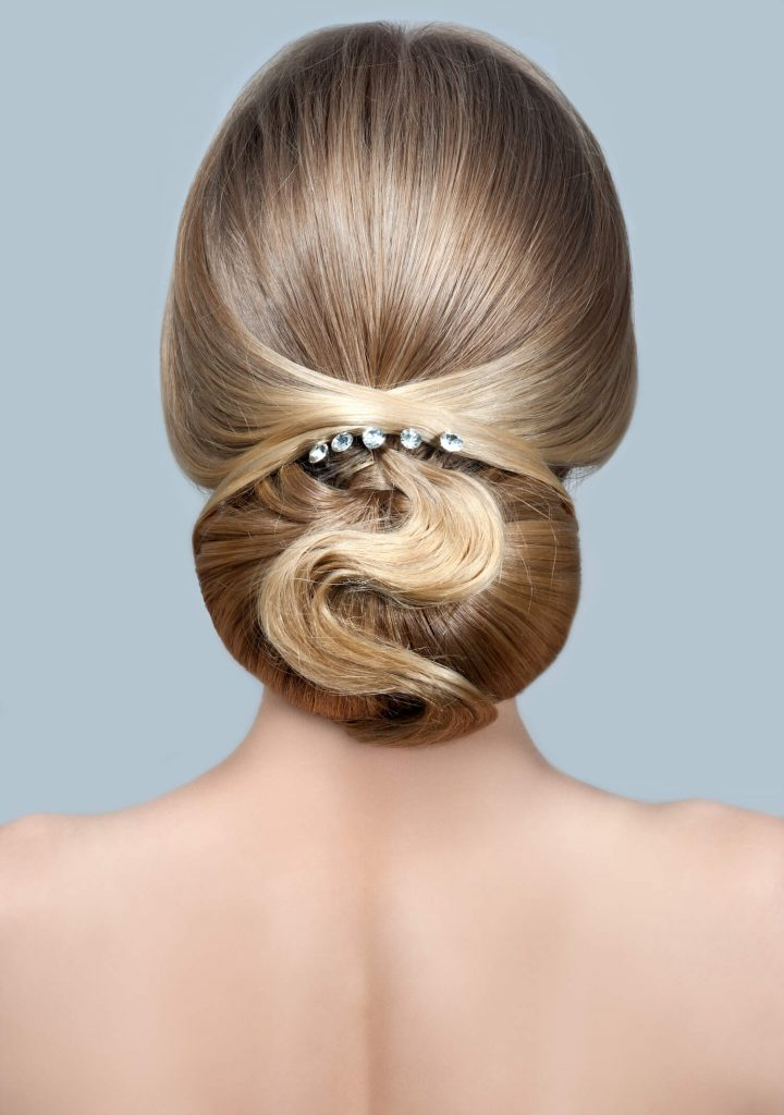 perfect bridal chignon updo wedding hair