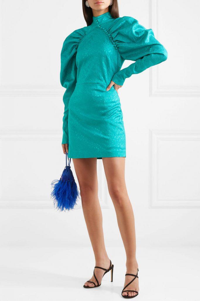 Puff Sleeve Mini Dress ROTATE BIRGER CHRISTENSEN