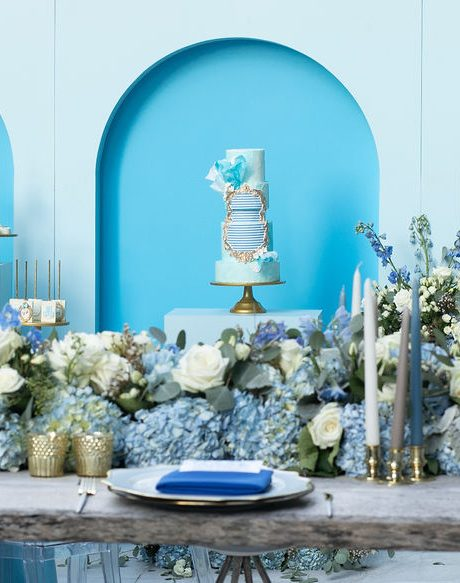 Elegant Baby Blue Shower with Stunning Florals-17