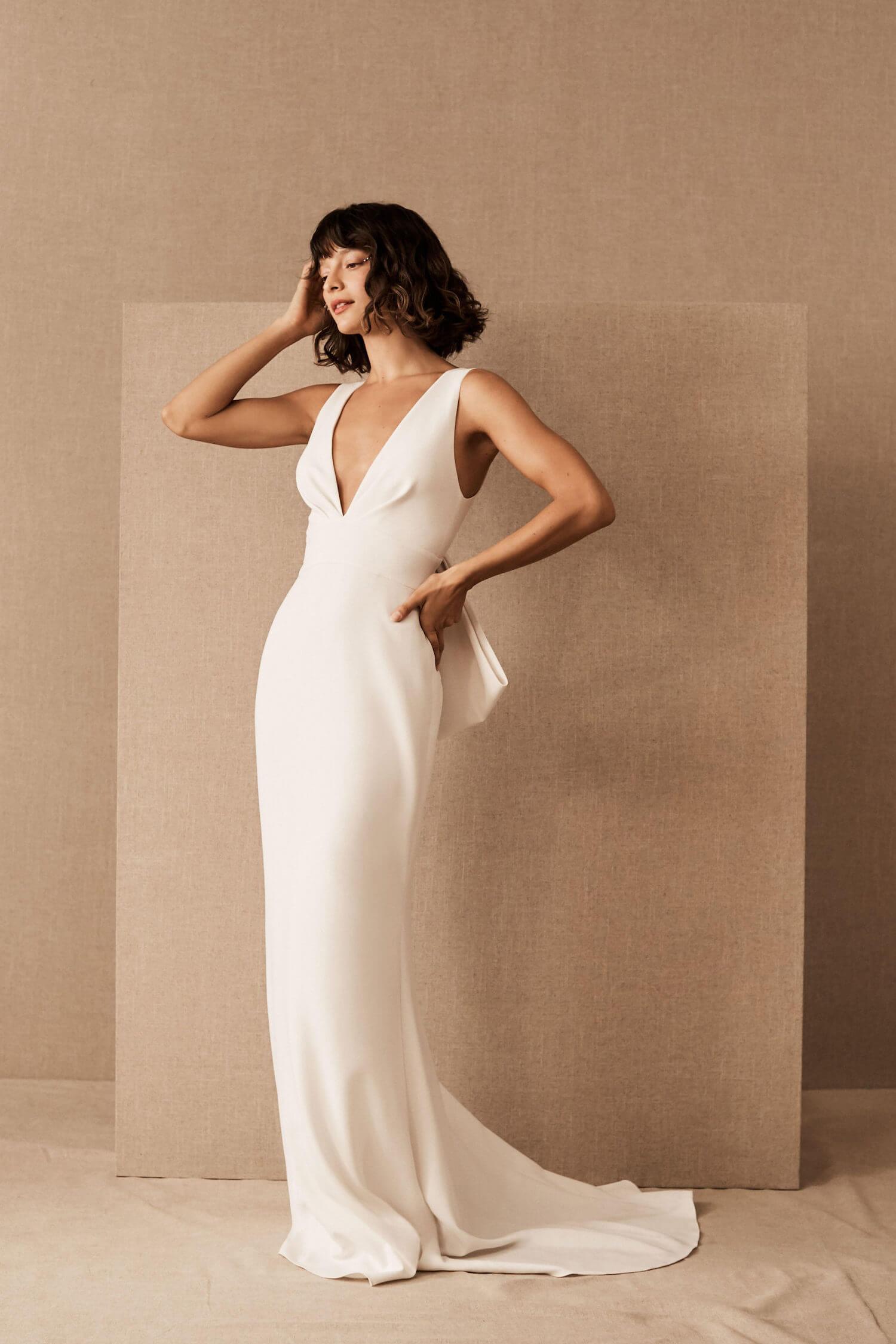 BHLDN wedding dress under 1500 dollars _ sachin Babi Branwell