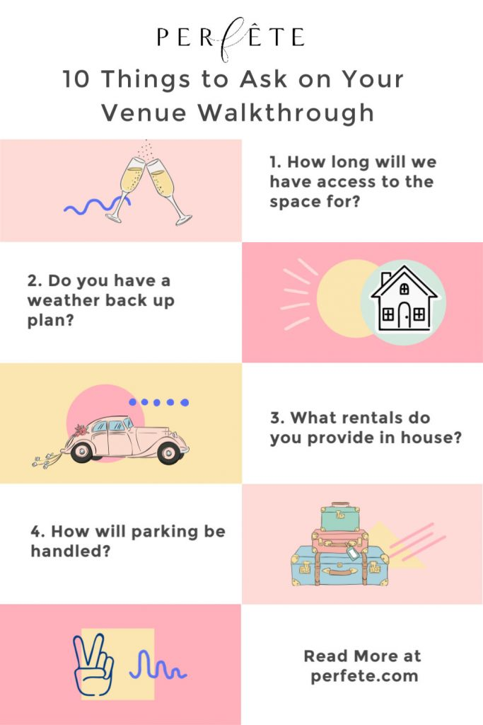 What to ask on your venue walkthrough