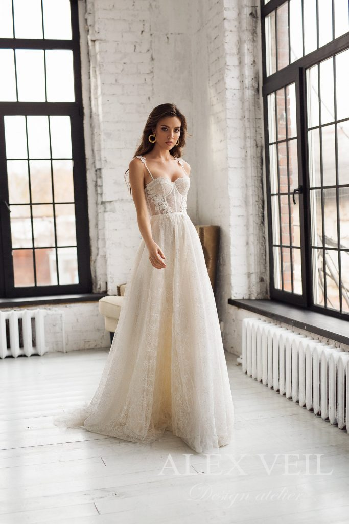 strap wedding dress