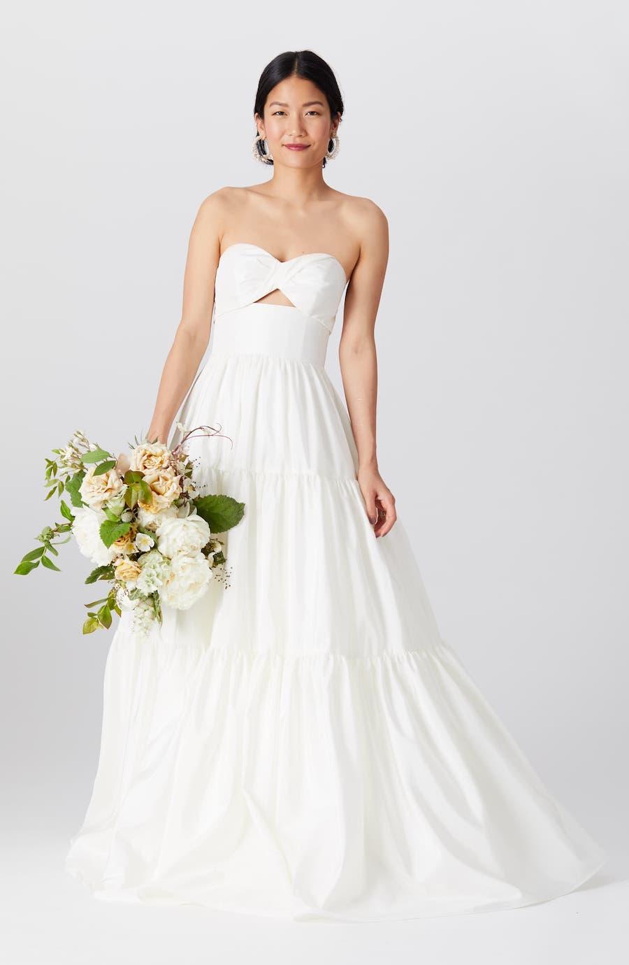 strapless bandeau ballgown