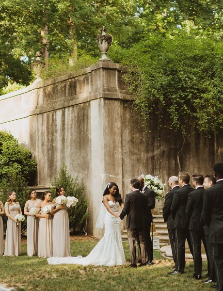 Breathtaking Atlanta Wedding with White and Gold Details-14