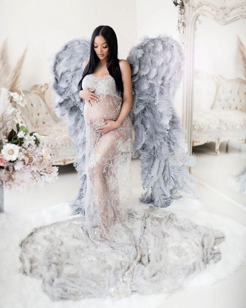 princess love wings maternity shoot