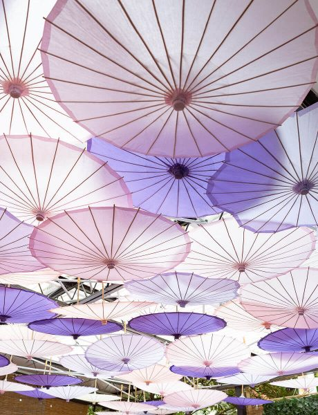 Purple & Pink Baby Shower with Bright Blooms and Umbrellas-4