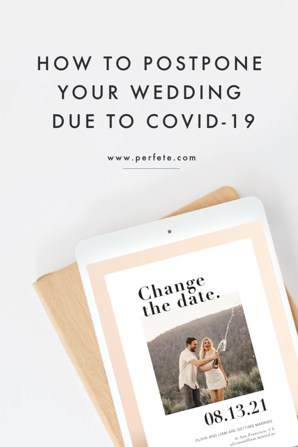 Date Change Announcement by Minted