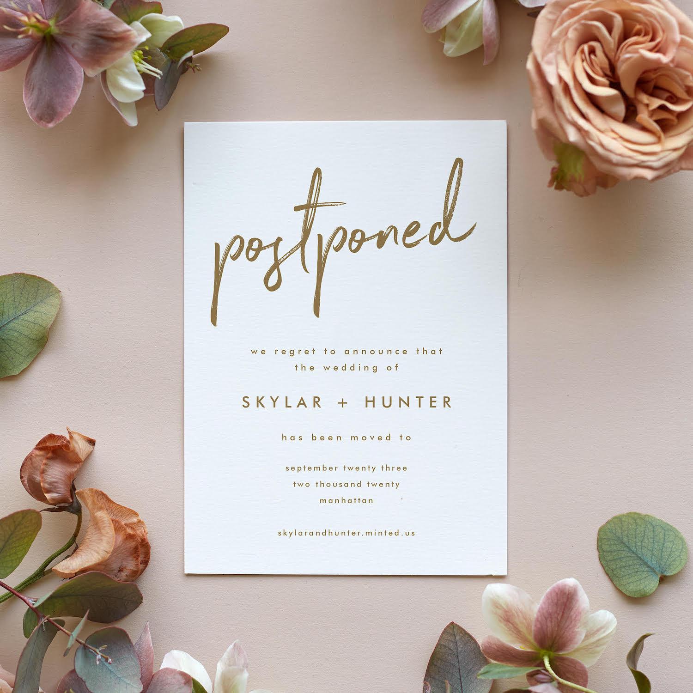 Postponement wedding invite