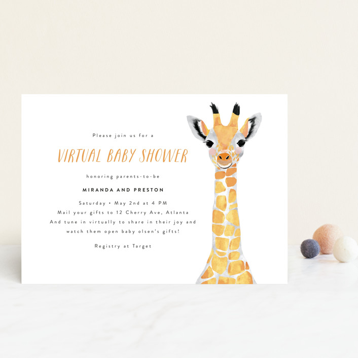 virtual baby shower invite by minted
