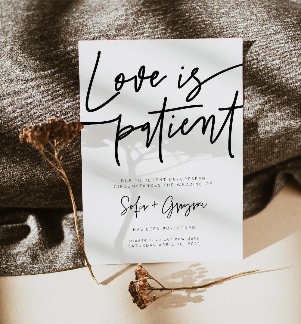 Love is patient change the date