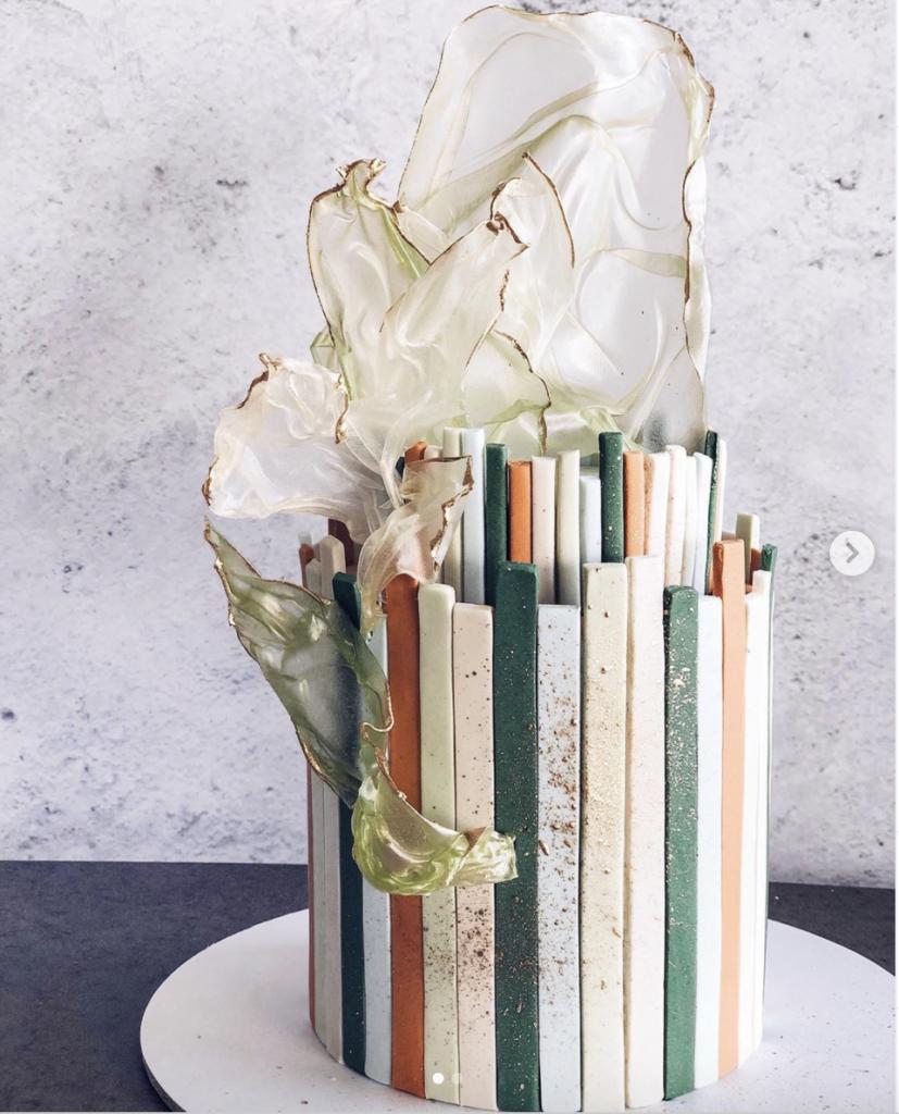 cool geometric cake