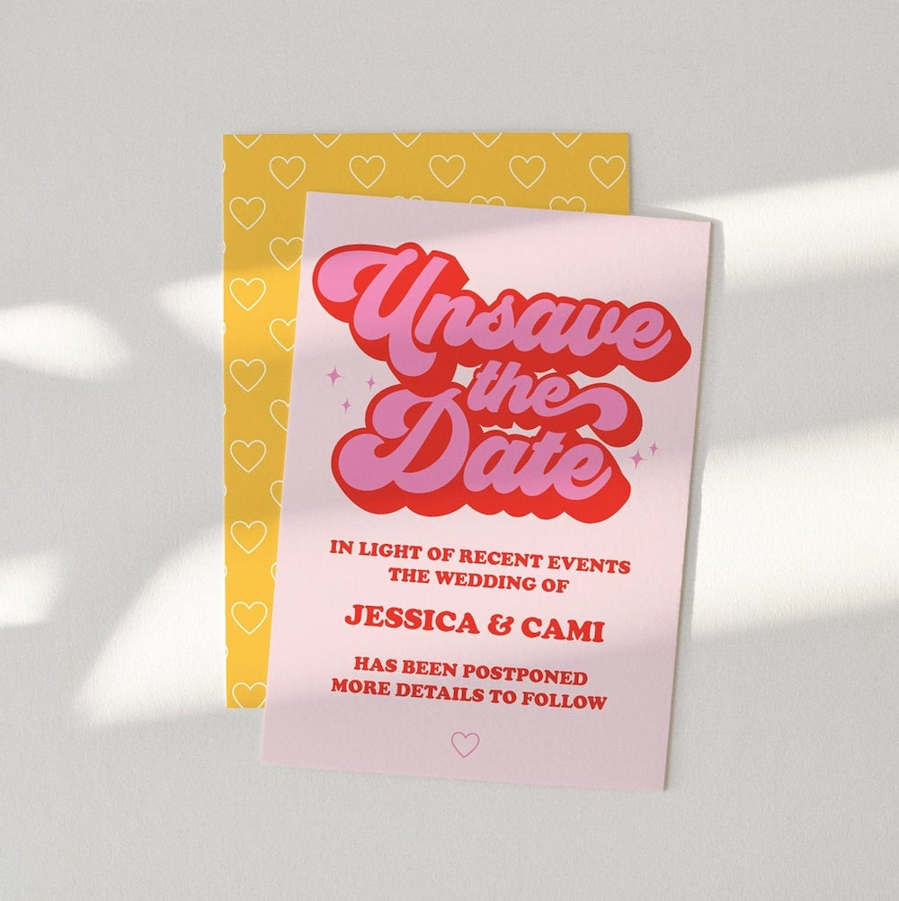 unsave the date card
