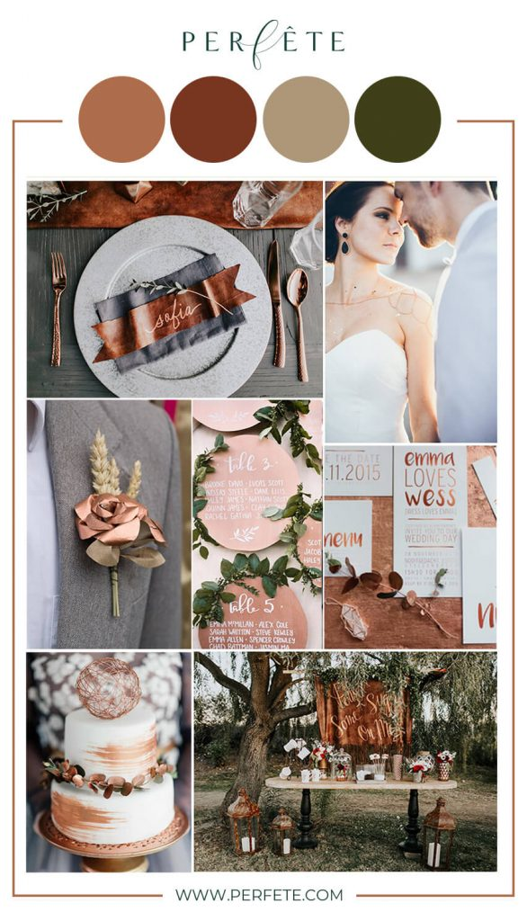 copper wedding colors