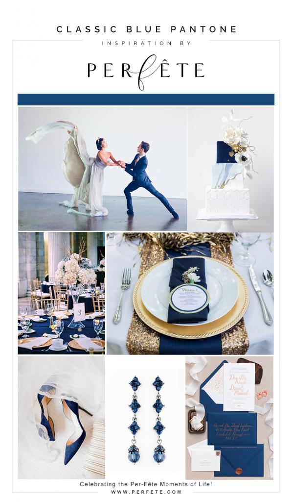 Pantone classic blue wedding colors