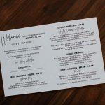 Welcome card for guests detail all the information for guests of the magical Vermont destination wedding in Stowe.
